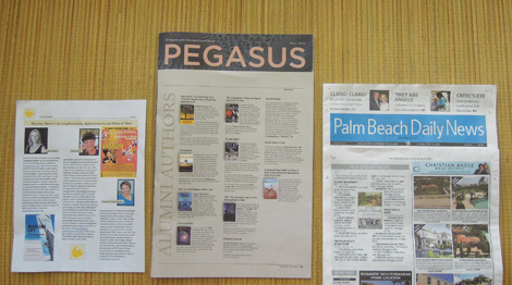 PR for books Shiny Sheet, Pegasus, T&G News